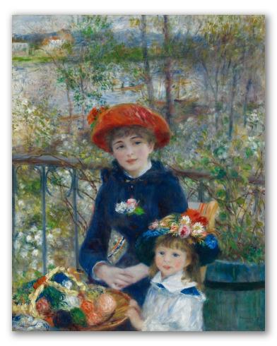 Duas Irmãs no Terraço