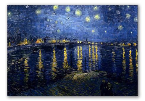 Noite Estrelada Sobre o Ródamo