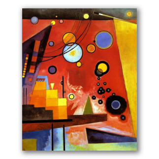 Vermelho Pesado - Wassily Kandinsky